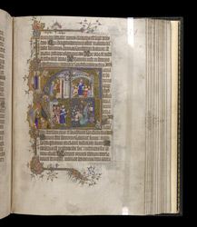 Historiated Initial To Psalm 97 With Scenes From The Life Of David, In The Egerton Bohun Psalter-Hours